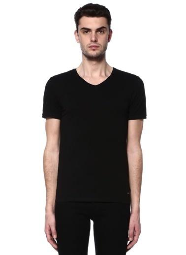 Boss V Yaka Tişört Siyah